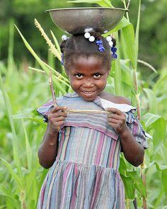 Haitian little girl