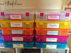 My Blissful Space: Busy Boxes For Kids' Summer Break! {#Colorize Your Spring Organizing with Astrobrights}