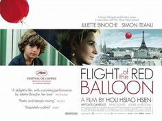 The Flight of the Red Balloon is a French film that was filmed in Paris.  It's the story of a little boy whose parents are seldom present.  Throughout the movie, everywhere he goes, there seems to be a red balloon floating somewhere in his vicinity.  The balloon is almost a character itself in this sweet foreign film.  In the hustle & bustle of life, as adults, we tend to push the balloon aside but here, Simon reminds us that our inner child is alive and well.