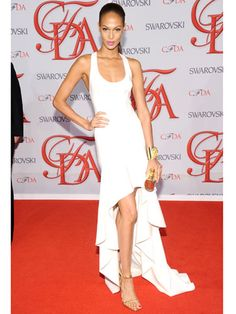 Joan Smalls in Michael Kors at the CFDA Fashion Awards.