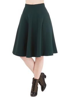 Simple Math Skirt in Forest