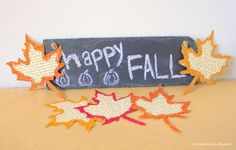 LOVE these glitter fall bookpage leaves