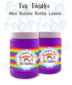 person mini, parti person, bottle labels, party printables, bubbles