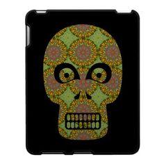 Yellow Skull Fractal Pattern Ipad Skin $56.20