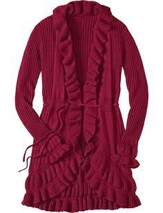 Long Luxe Ruffle Sweater from #HannaAndersson.