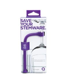 Tether  Turn to this dishwashing savior when it's time to clean those stems. These purple plastic rods slide over the dishwasher post, clasp onto stems of glasses, and keep them in place during the wash cycle.    To buy: $15 for four, quirky.com.  (From Real Simple)