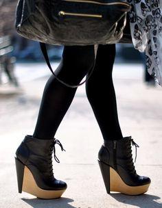 Kelsi Dagger Wedge Boots.
