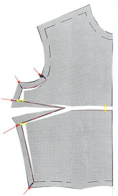 FBA Illustrated - On most commercial sewing patterns this is bra size greater than a B cup.  Each cup size greater than a B increases the fabric required by 3/8 to 1/2 inch in both length and width at the level of the bust (per cup size). Increasing for a full bust will prevent the strain and pulling up at the bodice front usually seen in ready to wear.