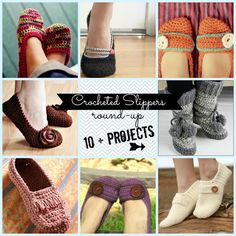 Crocheted Slippers - roundup!