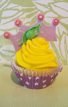 princess and the pea cupcake