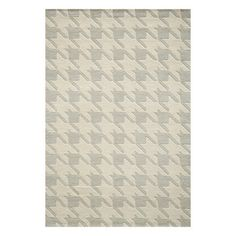 Houndstooth Rug 8x10 Gray, $599, now featured on Fab.