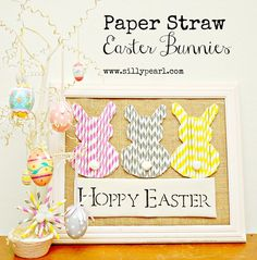 Tutorial  ::  Paper Straw Easter Bunnies <3