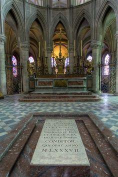 Gravestone of William the Conqueror in St Stephen's Monastery in Caen.