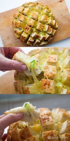 Cheesy Jalapeño Pull Apart Bread Recipe im going to try this! ! !