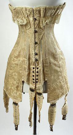 Vintage French silk corset circa 1910