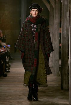 """Woolley layered tartan look. From the """"Paris-Édimbourg"""" collection."""