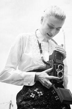 Grace Kelly with Roliflex