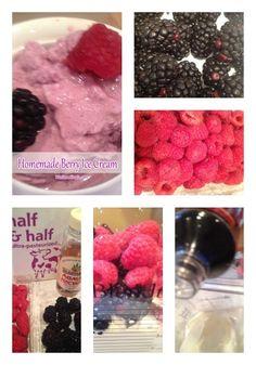 Ice Cream Recipes Kids: Homemade Berry Ice Cream #icecream #recipes