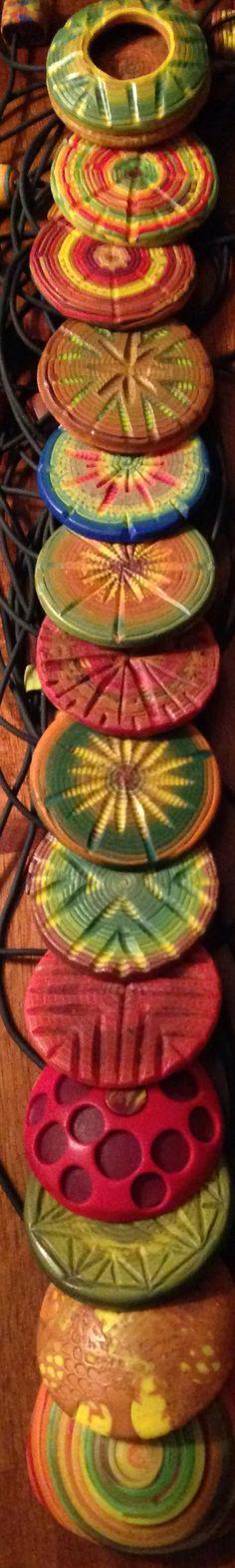 Née Née Ree polymer clay pendants
