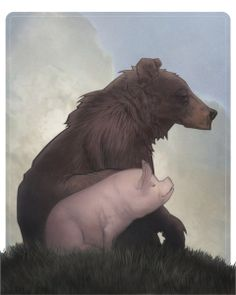 Bear and Pig Art Print by Alex Perkins | Society6