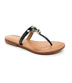 Antonio Melani Beckey Bee Sandals #Dillards - bumble bee flip flops!  Love love love
