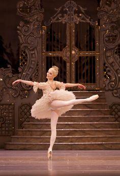"Royal Ballet principal dancer Sarah Lamb dances as the Sugar Plum Fairy in ""The Nutcracker"" at the Royal Opera House. Photographer: Johan Persson/Royal Opera House via Bloomberg"