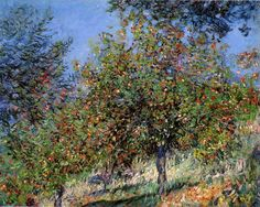 Claude Monet, Apple Trees on the Chantemesle Hill, 1878