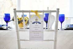 SNEAK PEEK into Stylish Kids' Parties book by Kelly Lyden: What Will it Bee? #babyshower #bumblebee #tablesetting #stylishkidsparties #whhostess