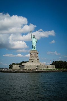 The Statue of Liberty and Liberty Island, New York City actually faces New Jersey and the New Yorker's have never forgiven them.