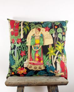 Cushion Cover Frida Kahlo Alexander Henry by NeonVintageDesign