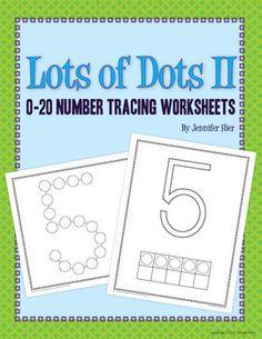 A 0-20 number version of the dot worksheet....includes dot ten frames.