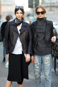 Leather jackets outfits