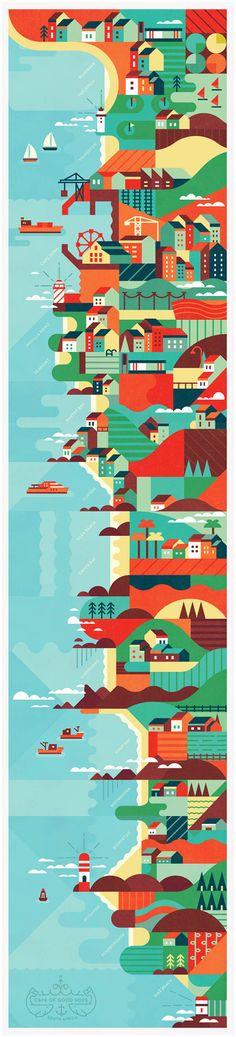 Cape of Good Hope - Illustration by MUTI - WE AND THE COLOR #illustrazione #grafica #colori