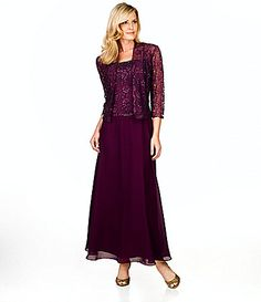KM Collections BeadedLace Jacket Dress #Dillards
