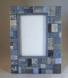 Blue Moon Polymer Clay Frame by pacdesigns1 on Etsy, $45.00