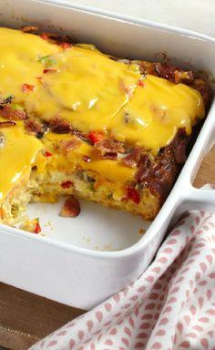 VELVEETA® Cheesy Bacon Brunch Casserole
