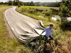 Erik Johansson's fascinating photographs.  His discussion of his process on TED.
