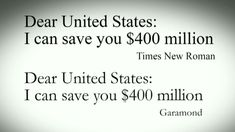 Teen to government: Change your typeface, save millions... This kid is awesome.