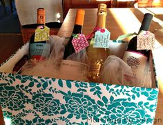 Marriage by Design | : Coolest Shower Gift Ever  {Bottles of wine with notes (or poems!) attached }