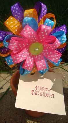 Girl Birthday Party Favors  Hair Bow by oneofakindbabydesign,