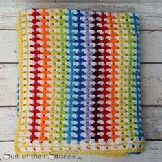 Diamond Stitch Crocheted Baby Blanket
