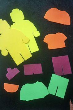 Tutorial craft: Lego Man Foam Stickers