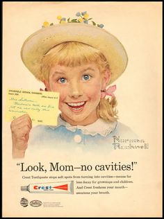 1958 Vintage Ad for Crest Toothpaste Norman Rockwell