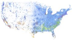 A Strangely Beautiful Map of Race in America