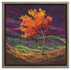 Spirit Trees - Breeze #2 - Lorraine Roy: Textile Art