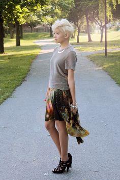 skirt and the bracelet