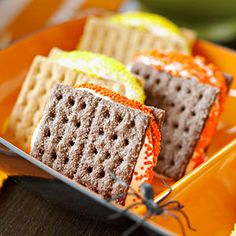 Yummy Fall Smores! Lunchbox treat or party.