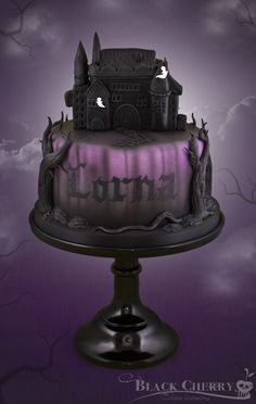 Haunted Castle Cake For Lorna who was spending her birthday doing a ghost hunt! http://www.facebook.com/littlecherrycakecompany