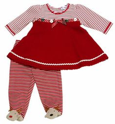 Check out the deal on Infant Girls Reindeer Games Dress #adorablebabyclothing