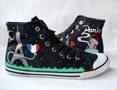 Zapatillas customizadas 'París' - EsenciaCustome - Zapatillas